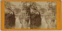 Pont Spagna Cauterets Francia Foto Stereo Th2n24 Vintage Albumina c1875
