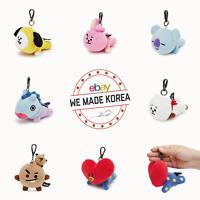 BT21 Character Soft Plush Lying Doll Bag Charm Keyring Authentic K-POP Goods