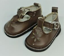 Brown Shoes Mary Jane 14 in Wellie Wishers Doll American Girl Accessory Clothes
