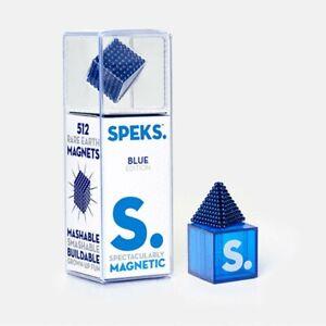 SPEKS Magnetic Balls | 512 Miniature Construction Magnets | Blue