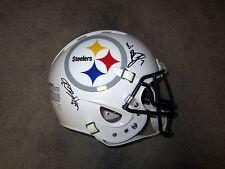 BEN ROETHLISBERGER & ANTONIO BROWN Steelers SIGNED CUSTOM Full-Size HELMET w/COA