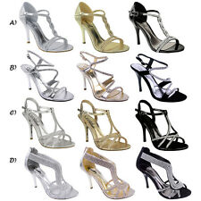 30d0e7ec09e Isa Perspex Barely There Stiletto Heels by Poised London in White Patent  (Vegan). £19.99. 1 sold · WOMENS LADIES DIAMANTE HIGH HEEL PROM SHOES  WEDDING ...