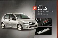 Citroen C3 Exclusive Plus Hatchback Limited Edition 2008 UK Market Brochure