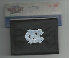 North Carolina Tar Heels Wallet Mens Black Bi-fold Wallet NC Logo