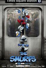 SMURFS- Original 2011 D/S Adv B movie poster-KATY PERRY