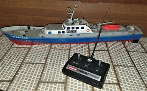 Carrera Structo RC Polizeiboot Helgoland mit Fernbedienung / Antenne