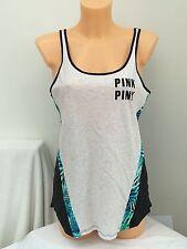 BNWT Victoria's Secret Pink. Charcoal Marl Sleeveless Tee. Size M|M.  RRP £25.50