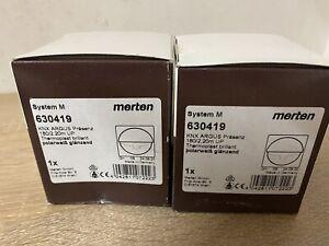 2 x Merten Bewegungsmelder KNX Argus 180/2,20m UP, Typ:630419 Polarweiß Glänzend