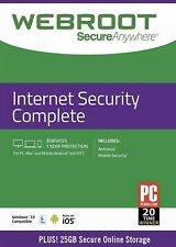 Webroot secureanywhere Internet Security completa 2020 3 dispositivi 1 anno di download