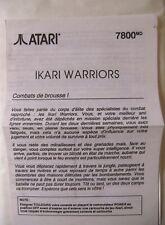 58471 Instruction Insert French - Ikari Warriors - Atari 2600 / 7800 (1986)