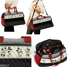 DISNEY Mickey Mouse e Minnie Mouse Trapuntato Weekender Tote Bag Nuovo con Scatola