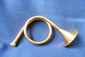 Vintage COPPER & BRASS small Curly HORN Bugle