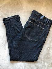 Tu Hombres Jeans Tamaño 40W 30L 40/30 Corte Recto Denim Azul Oscuro