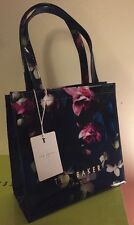 Ted Baker 🎀 Fuchsia Print Small Icon Bag BNWTS Great Gift Blue Floral ORECON