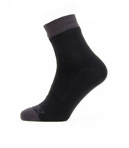 SealSkinz Waterproof Warm Weather Ankle Length Socks - Black / Grey