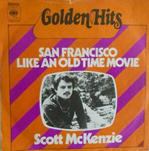 "7"" 60s KULT IN MINT- ! SCOTT MCKENZIE San Francisco + Like An Old Time Movie"