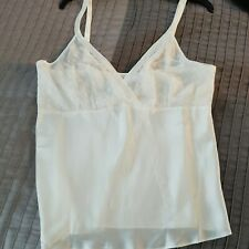 Vintage Camisole WonderMaid Size Xl White Lace Bow Satin