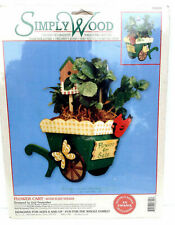 Simply Wood Flower Cart Wood Plant Holder Designed By Gail Fessenden