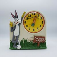 "Bugs Bunny Talking Alarm Clock ""Eh, Wake Up, Doc!"" 1974 Wind Up Clock"
