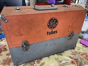 Vintage GE Service Repair Case/Tool Box *Full of Tubes*