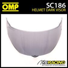 SC186 OMP Replacement Dark Visor fits SC613 OMP Circuit EVO Helmet Genuine Part