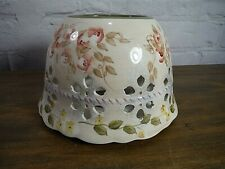 Home Interiors French Country Pierced + Scalloped Large / Med Candle Jar Shade