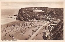 NEWQUAY CORNWALL UK TOLCARNE BEACH~TEAS SIGN ON BUILDING ROOF~PHOTO POSTCARD