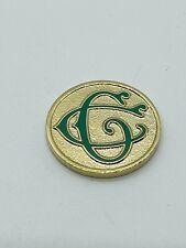 Salt Lake Club Utah Green Gold Metal Golf Ball Marker Coin Mint Member Only Rare