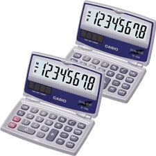 2 Pack Casio SL-100L Easy to Read Foldable Solar Calculator