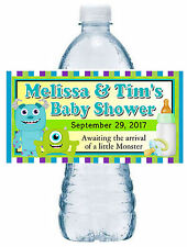 20 MONSTERS INC BABY SHOWER WATER BOTTLE LABELS ~ pink ~