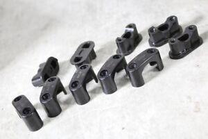 5 Stück Bakelit Kabelschellen Abstandschellen Aufputz schwarz Steckdose Schalter