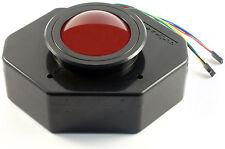 """Ultimarc U-Trak 3"""" USB Arcade Trackball mit Lünette Rot Lichtdurchlässig MAME"""