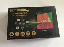 "LINSAY F-7HD4CORE 7"" 1024X600 IPS Quad Core Dual Camera Tablet Android 6 8GB NEW"