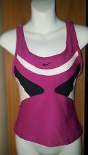 Women's Nike Dri-Fit Running Racer Back Tank Top W/ Sports Bra Size M EUC Cute !