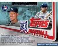 2019 Topps Series #1 Baseball Hobby JUMBO Factory Sealed Box + 2 Silver Packs