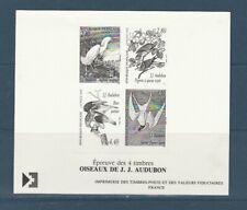 gravure épreuve  4 timbres  oiseaux Audubon   1995
