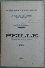 PEILLE des origines à la révolution Française  Alpes Maritimes L. BARBERA 1933