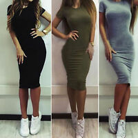 Women Casual Formal Cocktail Party Work Bodycon Slim Fitted Sheath Pencil Dress
