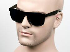 Large Horn Rimmed Cholo Sunglasses Super Dark OG LOC Gangster Style Black SW22