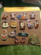 15 Chip And Dale Disney Pin Lot.