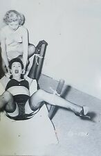 Betty Page tied fully clothed. Classic! 4×6