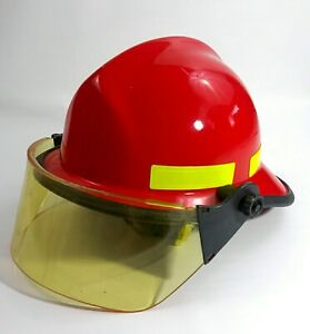 Cairns & Brother N660C Metro Firefighter Helmet Fire & Rescue Red Adjustable