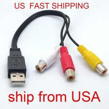 USB Male to 3 Rca RGB Female Video AV A/V Converter Cable HDTV TV Television gm