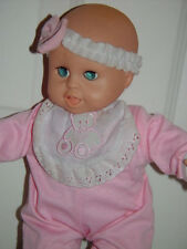 Baby Doll In Pink With Headband In A Ones