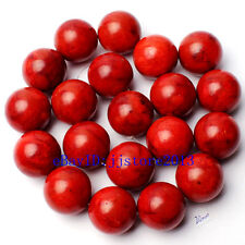 """20mm Pretty Natural Sponge Red Coral Round Shape Gemstone Loose Beads Strand 15"""""""