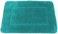 SOFT TEAL CASHMERE-FEEL CHENILLE ANTI-SLIP BATH MAT RUG 50 X 80CM