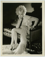 Languid Art Deco Beauty Muriel Evans Original 1930s Pre-Code Pin-Up Photograph