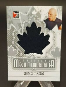 2011 In The Game Canadiana Mega Memorabilia Silver #MM-36 Georges St-Pierre /20