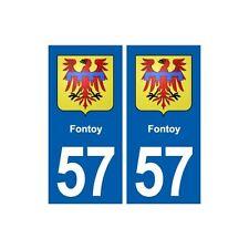 57 Fontoy  blason autocollant plaque stickers ville droits