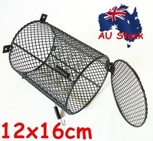 Reptile Heat Lamp Light Bulb Mesh Cage Protector Guard Enclosure 12x16cm Round